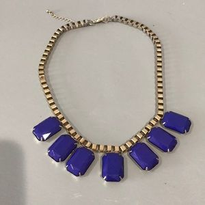Blue necklace from the Loft